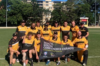UNSW Cricket Club with conference banner